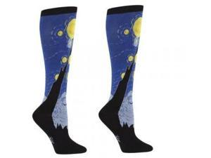 Sock It To Me Starry Night Knee High Sock (Blue)