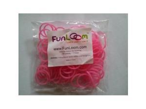 FunLoom Rubber Bands Pink By Funloom with Super C-clips for Use with Rainbow Loom, Twistz Bandz, and Fun Loom