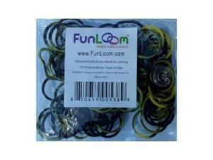 Funloom Yellow/Black Bands with Super C-clips