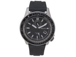 Seiko Automatic Men's Watch with a Black Rubber Strap and Black Dial - SSA003K2
