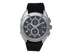 Citizen Eco Drive Titanium Chronograph Men's Watch with Rubber Strap and Black Dial  - CA0210-00E