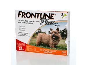 Frontline Plus For Dogs - Up to 22 lbs 3 pack