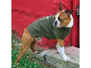 Riley's Rollneck Dog Sweater - Olive Green Large