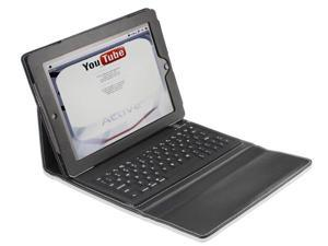 Black Leather case with  built-in bluetooth keyboard for iPad 2 and the New ipad