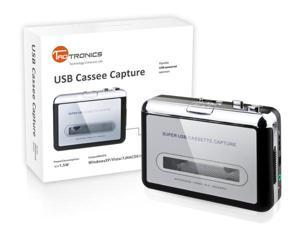 TaoTronics TT-CM001 USB Portable Cassette Tapes To MP3 Converter Tape-to-MP3 Capture Adapter Digital Audio Music Player With ...