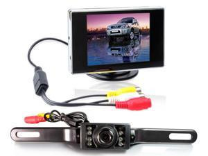 "TaoTronics Car Rear View System TT-CC01 License Mount Rearview Backup Camera & TT-CM01 3.5"" TFT-LCD Monitor"
