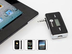 TaoTronics TT-FT01 Wireless Rechargeable Car FM Transmitter with 3.5mm Jack for MP3 Player, and Hands-Free Calling for iPhone, ...