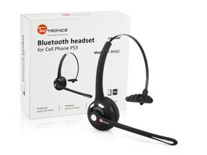 TaoTronics TT-BH02 Black Rechargeable Wireless  Bluetooth Headset with Microphone - Bluetooth V2.1