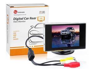 TaoTronics TT-CM01 3.5-inch TFT LCD Square Digital Car Monitor, Available for Car DVD, VCD, GPS, Cameras