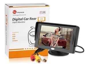 TaoTronics TT-CM03 4.3-Inch TFT LCD Digital Car Monitor with Baffle, Available for Car DVD, VCD, GPS, Camera