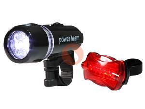 100% Brand New Waterproof LED Bike Bicycle Head Light+Rear Safety Flashlight