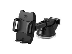 Car Phone Holder, TaoTronics Car Mount with One-button Rear Release (Flat Suction Cup, Three Ways to Adjust, Improved Usability, for iPhone, Galaxy, Nexus, and Other Popular Smartphones)