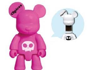 Choicee X Qee Bear 8GB USB 2.0 Flash Drive Pink
