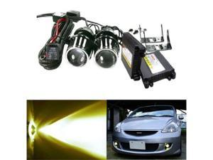 iJDMTOY Universal Optical Projector Fog Light Lamps with 3000K Golden Yellow HID Conversion Kit