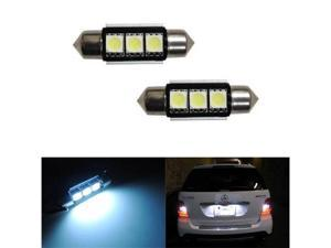 iJDMTOY 3-SMD Error Free 6418 C5W LED Bulbs For European Cars License Plate Lights, Xenon White