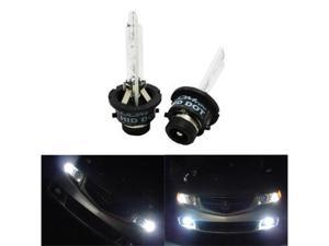 iJDMTOY 6000K Ultra White D2S HID Xenon Headlights Replacement Bulbs
