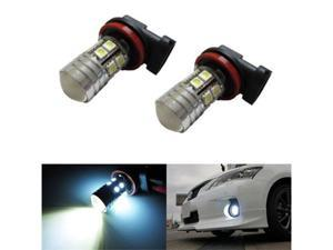 iJDMTOY CREE High Power SMD H11 H8 LED Daytime Running Light Bulbs, Xenon White