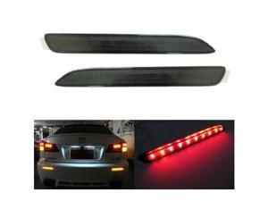 Lexus IS-F GX470 Toyota Sienna Matrix Venza Black Smoked Lens LED Bumper Reflector Lights