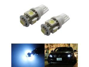 iJDMTOY 5-SMD 168 194 2825 T10 LED Parking Position Light Bulbs, Xenon White