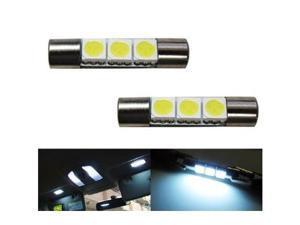 iJDMTOY 3-SMD 29mm 6614F Sun Visor Vanity Mirror LED Lights, Xenon White