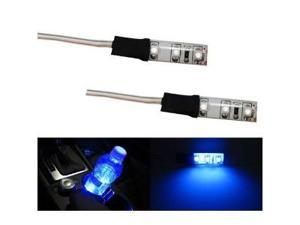 iJDMTOY 3-SMD LED Cup Holder, Glove Box, Ashtray Strip Lights, Ultra Blue