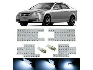 iJDMTOY 168-SMD 6-Piece Vehicle Specific Exact Fit Full LED Interior Light Package For Acura TL, Xenon White