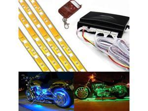iJDMTOY 7-Color RGB LED Motorcylce Bike Knight Rider Scanner Underbody Ground Effect Lighting Kit (4 x 12 inches)