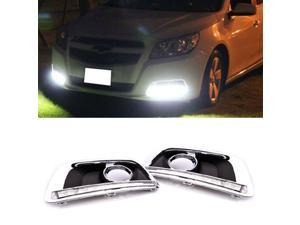 Fit 2013 and up Chevy Malibu High Power 12-LED Daytime Running Lights DRL Lamps Kit