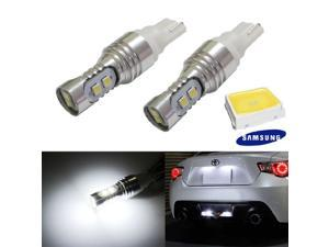 iJDMTOY 8-pieces 2835-SMD High Power 912 921 920 T10/T15 LED Backup Reverse Light Bulbs, Xenon White