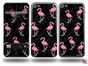 Flamingos on Black Decal Style Vinyl Skin - fits Apple iPod Touch 5G (IPOD NOT INCLUDED)