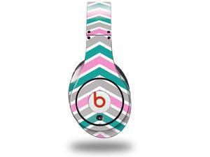 Zig Zag Teal Pink and Gray Decal Style Skin (fits genuine Beats Studio Headphones - HEADPHONES NOT INCLUDED)