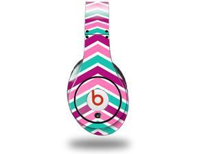 Zig Zag Teal Pink Purple Decal Style Skin (fits genuine Beats Studio Headphones - HEADPHONES NOT INCLUDED)