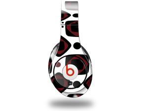 Red And Black Squared Decal Style Skin (fits genuine Beats Studio Headphones - HEADPHONES NOT INCLUDED)