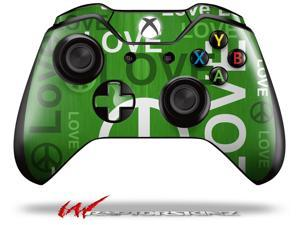 Love and Peace Green - Decal Style Skin fits Microsoft XBOX One Wireless Controller - CONTROLLER NOT INCLUDED - OEM
