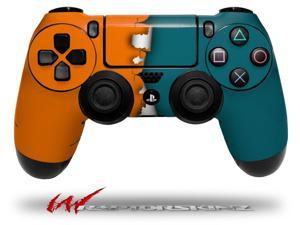 Ripped Colors Orange Seafoam Green - Decal Style Wrap Skin fits Sony PS4 Dualshock 4 Controller - CONTROLLER NOT INCLUDED