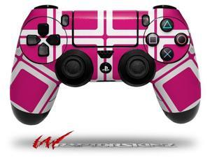 Squared Fushia Hot Pink - Decal Style Wrap Skin fits Sony PS4 Dualshock 4 Controller - CONTROLLER NOT INCLUDED