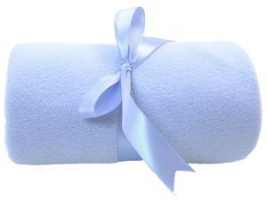 4 Pcs Bulk Wholesale Lot - Luxury Baby Infant Blanket Hugger Snuggle Fleece Throw 30 x 40 - Blue