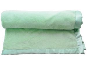 2 Pcs Bulk Wholesale Lot - Easy Baby Infant Keep Me Close Plush Satin Whip Blanket Great Shower Gift - Green
