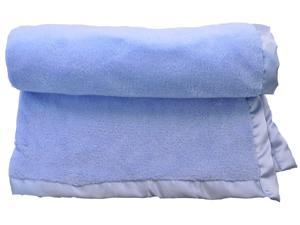 2 Bulk Lot Wholesale Lightweight Newborn Baby Infant Full Size 30 x 40 Plush Keep Me Close Blanket - Blue