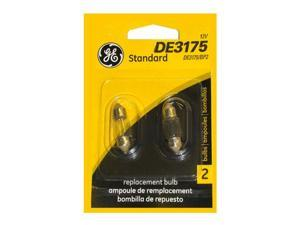 GE 10w T3.25 DE3175 13v Festoon Light Bulb (2PK)