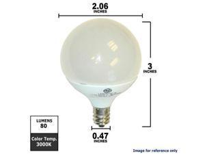 GE 1.8W 120V E12 G16.5 LED White Light Bulb