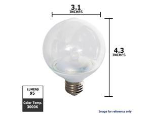 GE 2.3W 120V G25 Clear LED Light Bulb