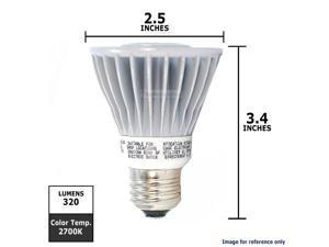 OSRAM SYLVANIA 8W PAR20 Dimmable LED FL36 Flood Warm White Light Bulb