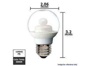 GE 1.8W 120V G16.5 Globe E26 base Clear LED Light Bulb