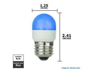SUNLITE Blue 0.5w Tubular T10 Medium Screw In Base Light Bulb