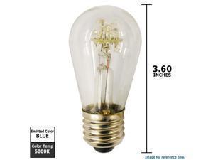 SUNLITE 0.8w 110v S14 Blue LED Light Bulb