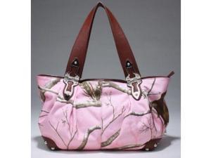 Realtree® APC Pink Camo Tote Handbag for Ladies (Pink/Chocolate)