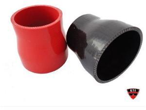 "GTE Black Silicon Hose 3""-2.5"" Reducer/Coupler for Turbo Intercooler Pipe (One)"