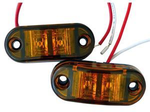 "24v led side marker lamp,1"" x 2.5"" Oval C/M Lamp AMBER"