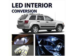 Jeep Grand Cherokee 2005-2009 High Performance 8pc LED Interior Kit WHITE HID Color